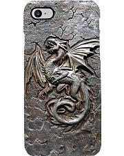 Dragon Cracks Metal Pattern Print  Phone Case i-phone-8-case