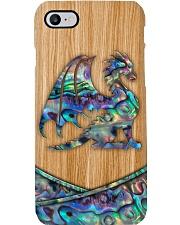 Dragon Faux Wood Print Phone Case i-phone-8-case