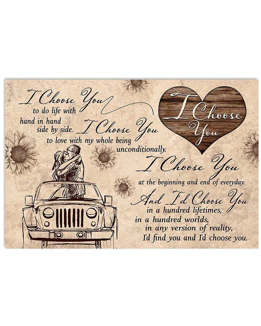 I choose you to do life with hand in hand 17x11 Poster