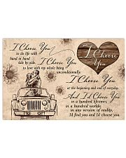 I choose you to do life with hand in hand 17x11 Poster front