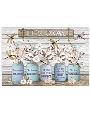 It's okay Faux wood print  17x11 Poster front
