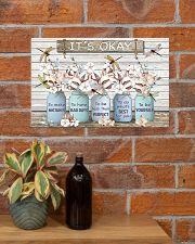 It's okay Faux wood print  17x11 Poster poster-landscape-17x11-lifestyle-23