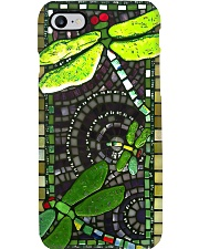 Dragonfly stained glass print Phone Case i-phone-8-case
