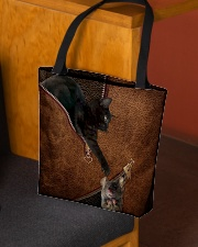 Cat and Mouse Leather pattern Print  All-over Tote aos-all-over-tote-lifestyle-front-02