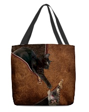 Cat and Mouse Leather pattern Print  All-over Tote back