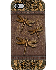 Dragonflies Leather Pattern Print  Phone Case i-phone-8-case