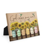 God says you are Easel-Back Gallery Wrapped Canvas tile