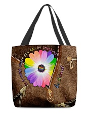 In a world where you can be anything be kind All-over Tote front