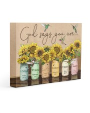 God says you are 14x11 Gallery Wrapped Canvas Prints front
