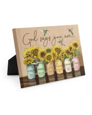 God says you are 10x8 Easel-Back Gallery Wrapped Canvas thumbnail