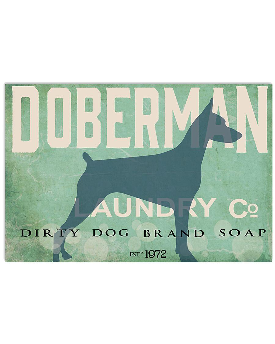 Doberman laundry company 17x11 Poster