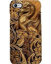 Soul Of A Dragon Leather pattern Print  Phone Case i-phone-8-case