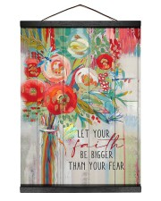 Let your faith be bigger than your fear Hanging Canvas tile