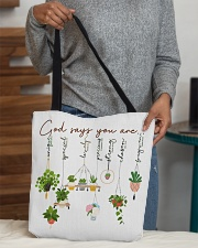 God says you are All-over Tote aos-all-over-tote-lifestyle-front-10