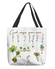 God says you are All-over Tote front