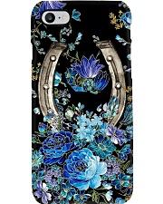 Horseshoe blue floral Phone Case i-phone-8-case