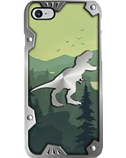T-rex Lovers Metal Pattern Print  Phone Case i-phone-8-case