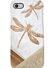Dragonfly Faux Wood Print Phone Case i-phone-8-case