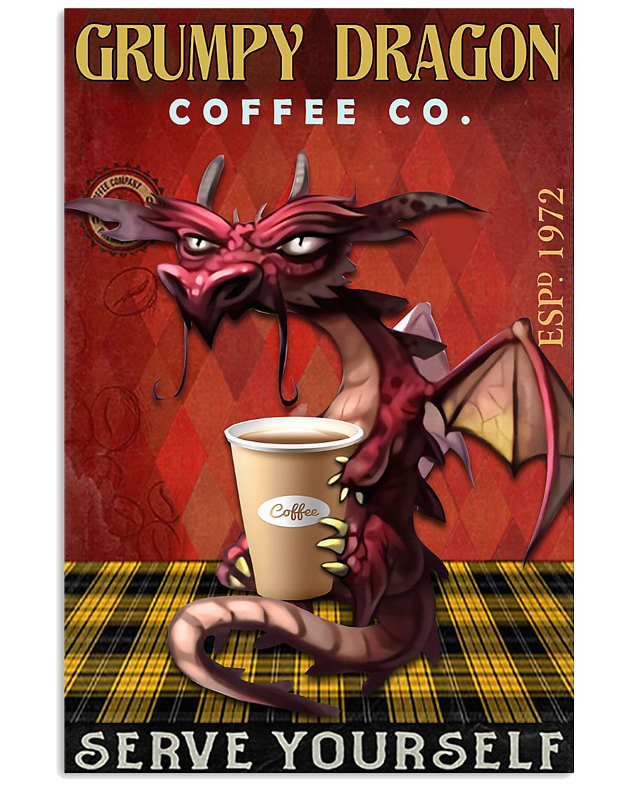 Grumpy dragon coffee co 11x17 Poster
