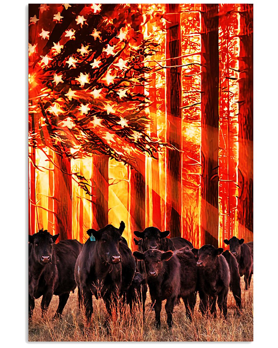 Cow sunshine Independence Day 11x17 Poster