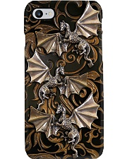 Dragon Lovers Metal Pattern Print  Phone Case i-phone-8-case