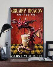 Grumpy dragon coffee co 11x17 Poster lifestyle-poster-2