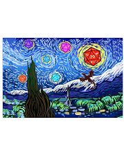Starry night dragon D20 17x11 Poster front