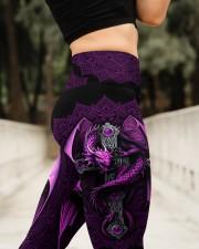 Vivid Purple Dragon High Waist Leggings aos-high-waist-leggings-lifestyle-11