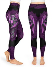 Vivid Purple Dragon High Waist Leggings front