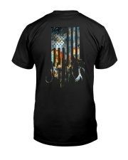 American Flag Retro style Classic T-Shirt back