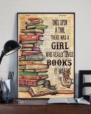 Once upon the time there was a girl loved books 11x17 Poster lifestyle-poster-2