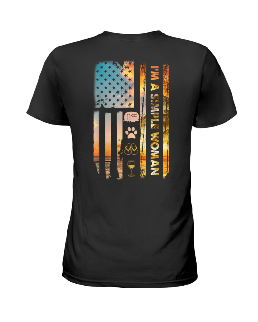 I'm a simple woman Independence Day Ladies T-Shirt
