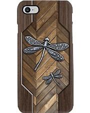 Dragonfly Faux Wood Phone Case Phone Case i-phone-8-case