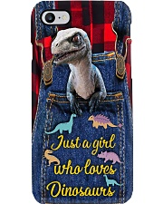 Loves Dinosaurs Leather pattern print  Phone Case i-phone-8-case