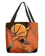 Dabbing Basketball Leather pattern print  All-over Tote front