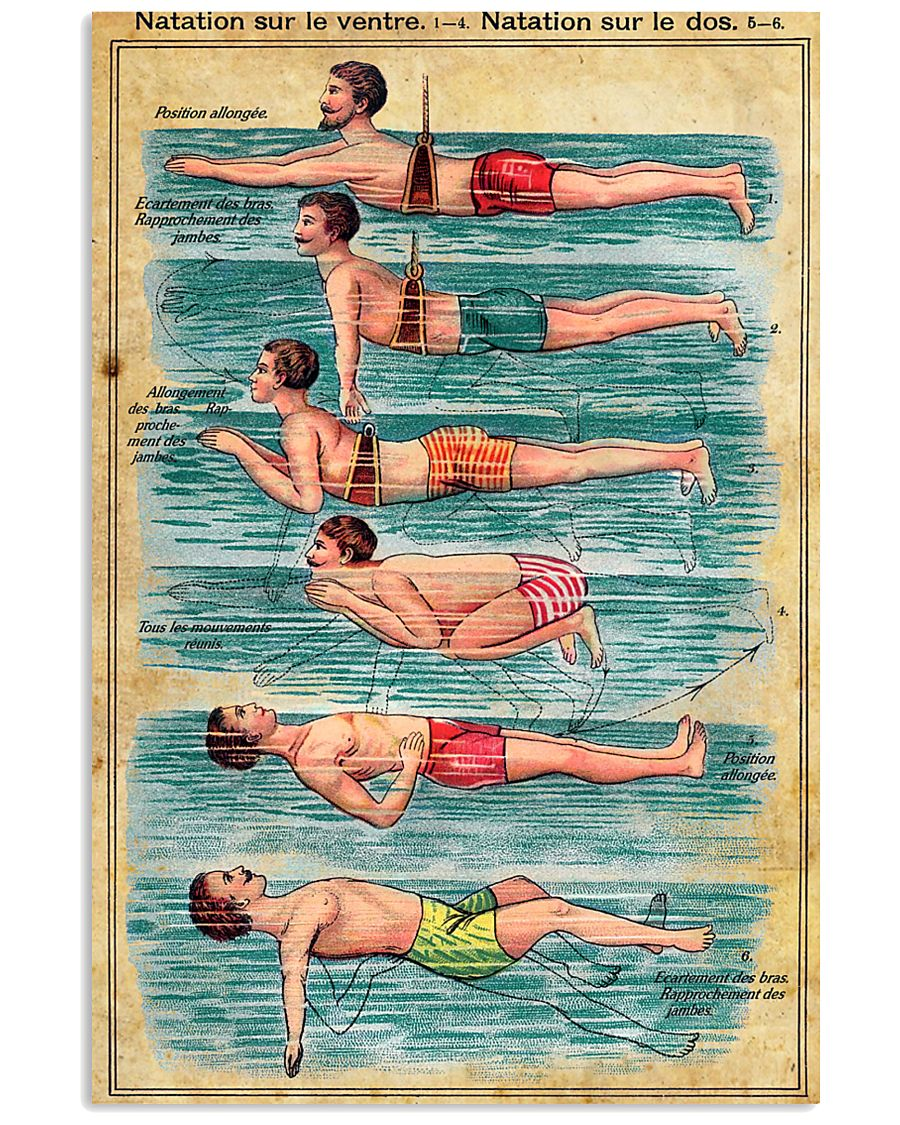 The swimmer French 11x17 Poster