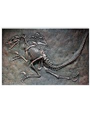 Dinosaur Fossil Metal Pattern Printed 17x11 Poster front