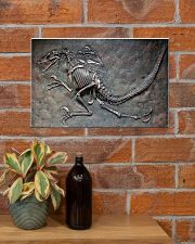 Dinosaur Fossil Metal Pattern Printed 17x11 Poster poster-landscape-17x11-lifestyle-23