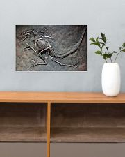 Dinosaur Fossil Metal Pattern Printed 17x11 Poster poster-landscape-17x11-lifestyle-24