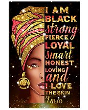 I am black strong 11x17 Poster front