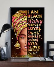I am black strong 11x17 Poster lifestyle-poster-2