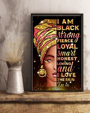 I am black strong 11x17 Poster lifestyle-poster-3