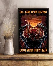 On a dark desert highway 11x17 Poster lifestyle-poster-3