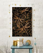 Dragonflies Faux Wood Print  11x17 Poster lifestyle-holiday-poster-3