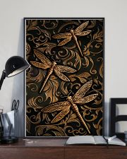 Dragonflies Faux Wood Print  11x17 Poster lifestyle-poster-2