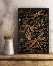 Dragonflies Faux Wood Print  11x17 Poster lifestyle-poster-3