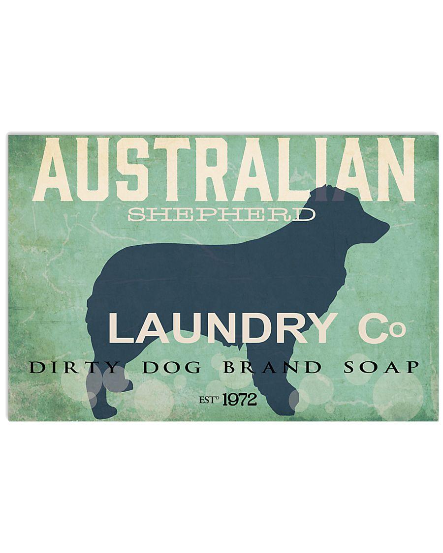 Australian Shepherd laundry company 17x11 Poster