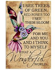 I see trees of green red roses too 11x17 Poster front