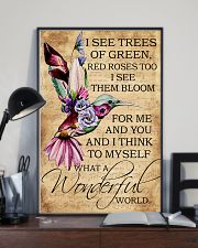I see trees of green red roses too 11x17 Poster lifestyle-poster-2