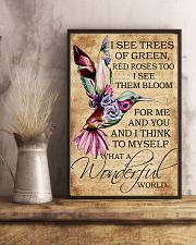 I see trees of green red roses too 11x17 Poster lifestyle-poster-3